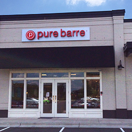 Photograph of the Pure Barre storefront